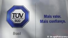 Brasilien, nach Schlammlawine in Brumadinho - Polizei nimmt Ingenieure von TÜV Süd fest SÃO PAULO, SP - 29.01.2019: PF FAZ OPERAÇÃO NA TÜV SÜD EM SP - Entrance gate of the TÜV SÜD company in the western area of the city of São Paulo this morning (29). The company, which issued an opinion attesting security at the Brumadinho dam, was the target of a search and seizure operation of the Federal Police. x1672487x PUBLICATIONxNOTxINxBRA BrunoxRocha