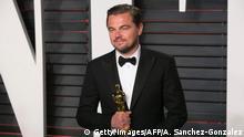 Leonardo DiCaprio mit Oscar