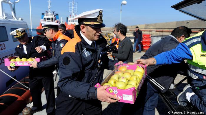 Italien Lebensmittel für die Sea-Watch 3