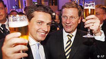 Deutschland Bundestagswahlen 2009 FDP Feier Guido Westerwelle