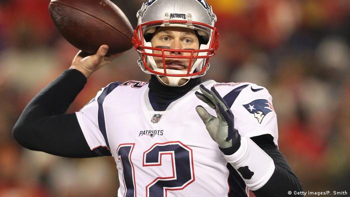 Tom Brady Nummer 12 der New England Patriots (Getty Images/P. Smith)