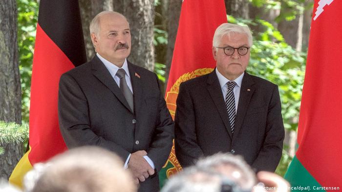 Prezydenci Białorusi i Niemiec