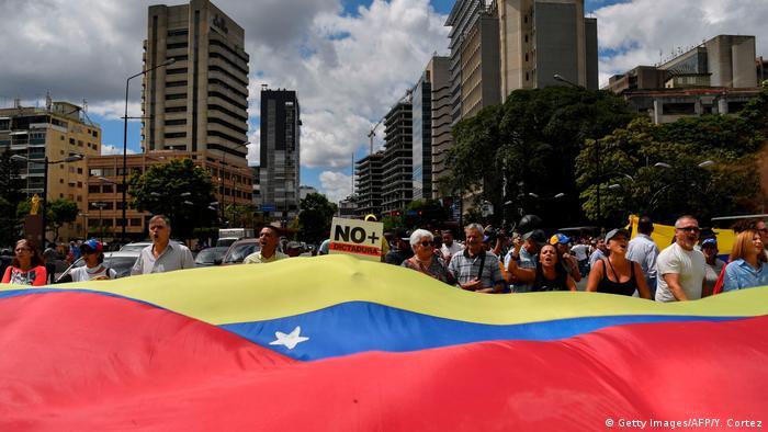 Anti-government protests in Caracas, Venezuela