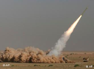A missile being test-fired in Iran in 2008