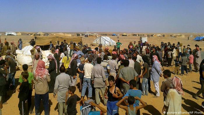 Grenze Jordanien Syrien Flüchtlingslager Rukban (picture-alliance/AP Photo)