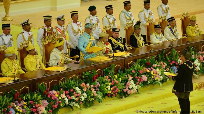 Malaysia's King Abdullah takes oath at his crowning ceremony in Kuala Lumpur
