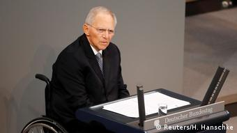 Deutschland Holocaust Gedenkstunde im Bundestag Wolfgang Schäuble (Reuters/H. Hanschke)