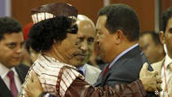 معمر قذافی و هوگو چاوز