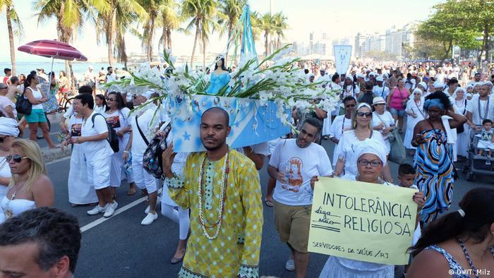 Manifestação em Salvador, Bahia, contra intolerância religiosa