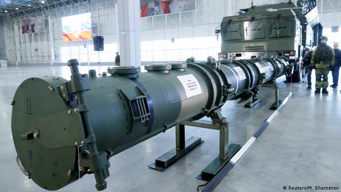 Российская ракета 9М729 в павильоне