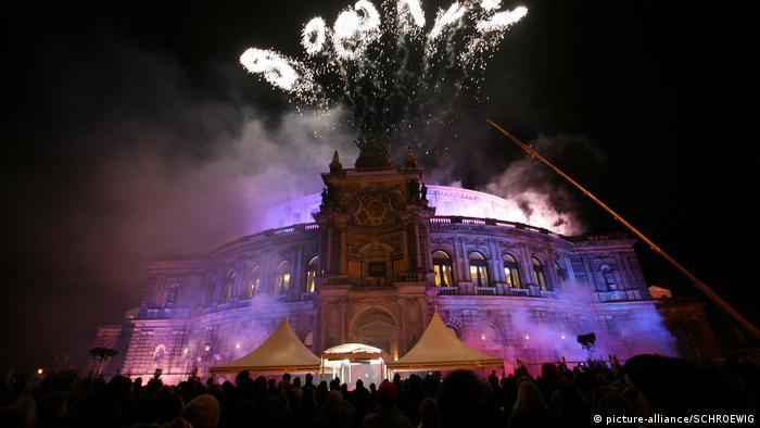 Фейерверк в рамках оперного бала в Дрездене