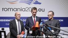 Gymnich-Treffen Rumänien Frankreich und Deutschland in Bukarest