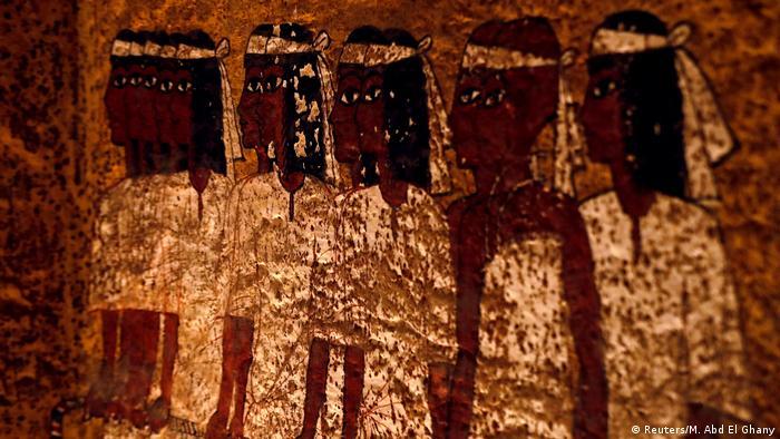 Mural na tumba de Tutancâmon