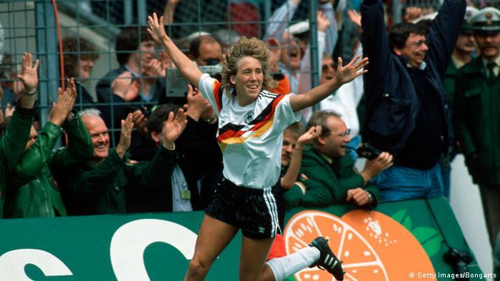 Frauenfußball EM 1989 - Deutschland v Norwegen - Heidi Mohr (Getty Images/Bongarts)