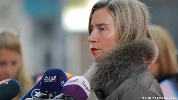 Die EU-Außenbeauftragte Mogherini in Bucharest (picture-alliance/V. Ghirda)