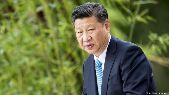 Präsident der Volksrepublik China Xi Jinping anlässlich der Eröffnung des Panda Garden im Berliner Zoo (picture-alliance)