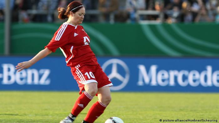 Fußball Frauen Spielerin Renate Lingor (picture-alliance/Huebner/Scheuring)