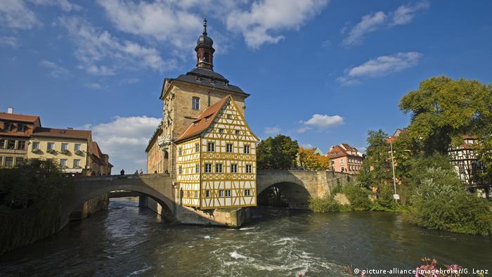Fachwerk Bamberg, Oberfranken (picture-alliance/imagebroker/G. Lenz)