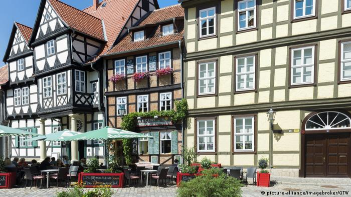 Fachwerk Quedlinburg (picture-alliance/imagebroker/GTW)