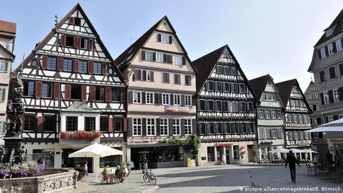 Fachwerk Tübingen (picture-alliance/imagebroker/E. Bömsch)