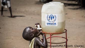 Afrika Flucht südsudanesischer Flüchtling in Uganda (Imago/ZUMA Press/G. Cloarec)