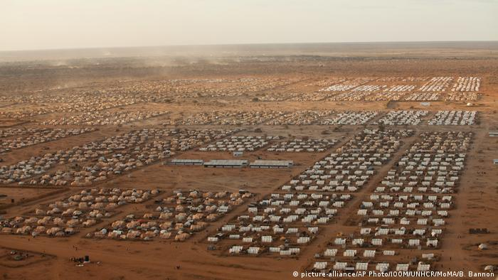 An aerial view of the Dabaad Refugee Complex in Kenya