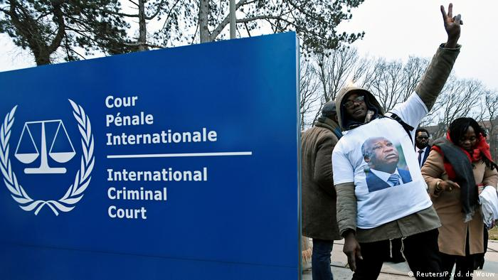 A supporter of Laurent Gbagbo at the International Criminal Court