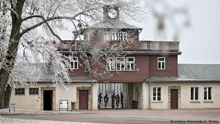 El memorial del campo de concentración en Buchenwald, Alemania.