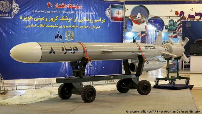 Iran Hoveizeh Cruise Rakete (picture-alliance/AP Photo/Iranian Defense Ministry )