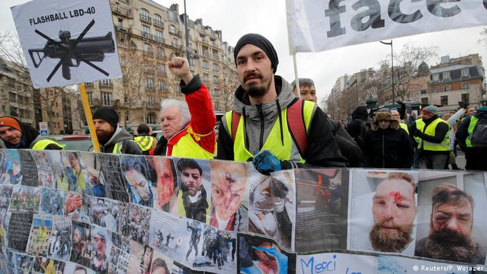 Frankreich Gelbwesten | Protest in Paris (Reuters/P. Wojazer)