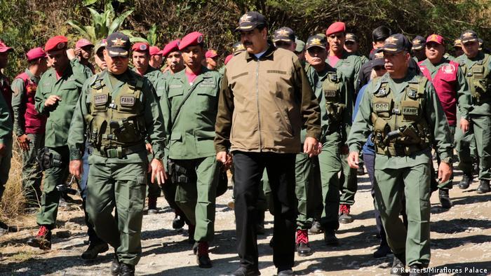 Venezuela Krise | Präsident Nicolas Maduro bei Militärübung (Reuters/Miraflores Palace)
