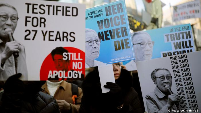 The issue of 'comfort women' still weighs heavily on Japan's relations with South Korea