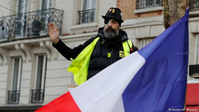 Frankreich Gelbwesten-Protest in Paris   Jerome Rodrigues (Reuters/P. Wojazer)