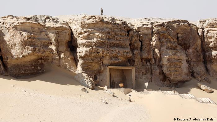 The ancient burial site in Minya