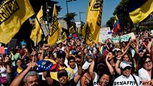 Venezuela NEU Protest & Demonstration gegen Nicolas Maduro in Caracas