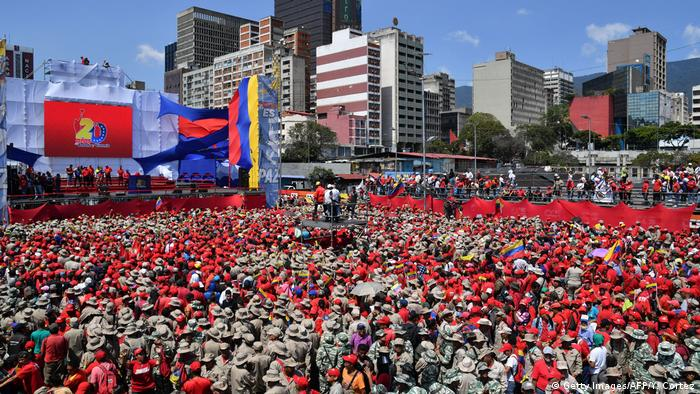 Pro-Maduro rally in Caracas