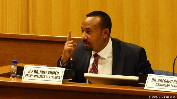 Äthiopien Diskussion zwischen den PM Abiy Ahmed und Opposition