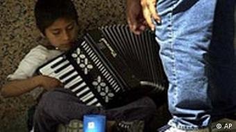 Straßenmusikant in Mexiko