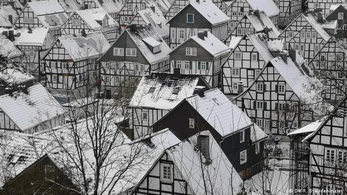 Timber-framed houses in Freudenberg, Germany