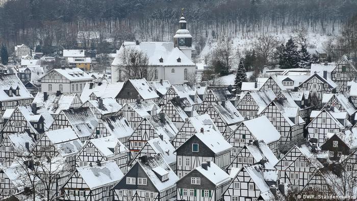 Deutschland Fachwerkhäuser in Freudenberg
