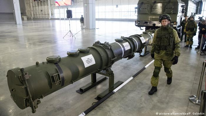 Russia's 9M729 or SSC-8 missile (picture-alliance/dpa/P. Golovkin)