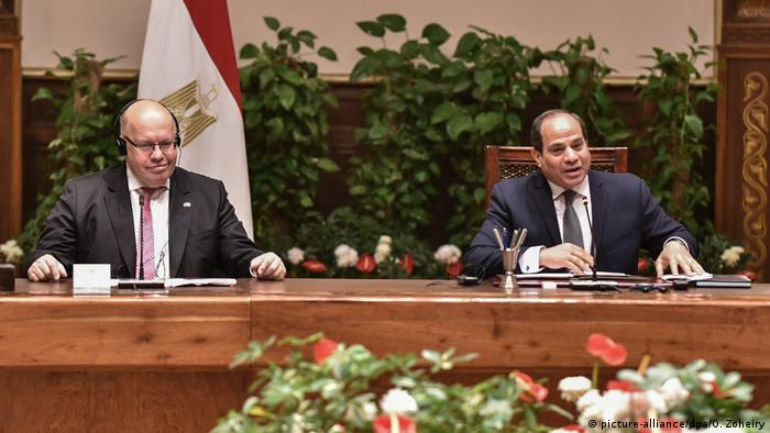 Ägypten Wirtschaftsminister Peter Altmaier in Kairo | mit Abdel Fattah al-Sisi, Präsident