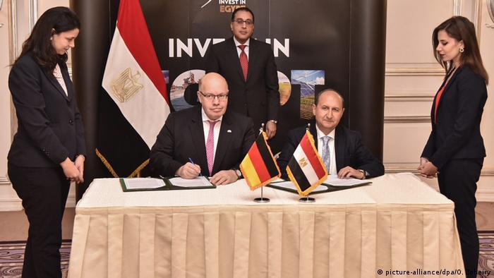 Ägypten Wirtschaftsminister Peter Altmaier in Kairo | mit Amr Nassar, Handelsminister