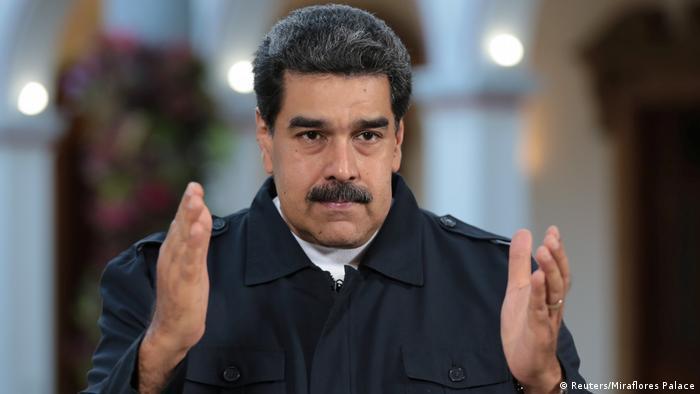 Venezuela Krise | Präsident Nicolas Maduro in Caracas (Reuters/Miraflores Palace)