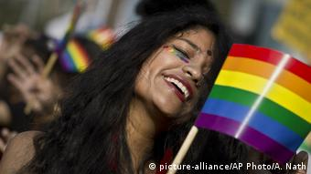 BdTD Indien Gay Pride Parade (picture-alliance/AP Photo/A. Nath)