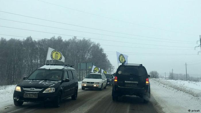 Protest in Kolomna, Russland, gegen Müllentsorgung (privat)
