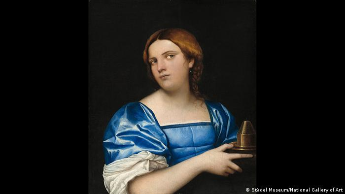 Städel Museum, portrait painting by Sebastiano del Piombos, showing woman in blue dress holding an incense burner (Städel Museum/National Gallery of Art)