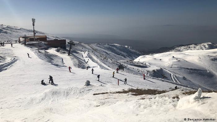 Golanhöhen Schnee am Mount Hermon
