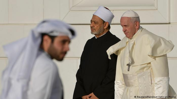 Papst Franziskus in Abu Dhabi (Reuters/Handout Vatican Media)