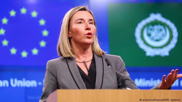 Brüssel Treffen EU - Arabische Liga Federica Mogherini (picture-alliance/AA/D. Aydemir)